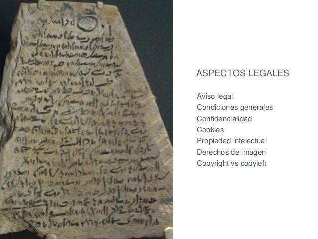 ASPECTOS LEGALES  Aviso legal  Condiciones generales  Confidencialidad  Cookies  Propiedad intelectual  Derechos de imagen...