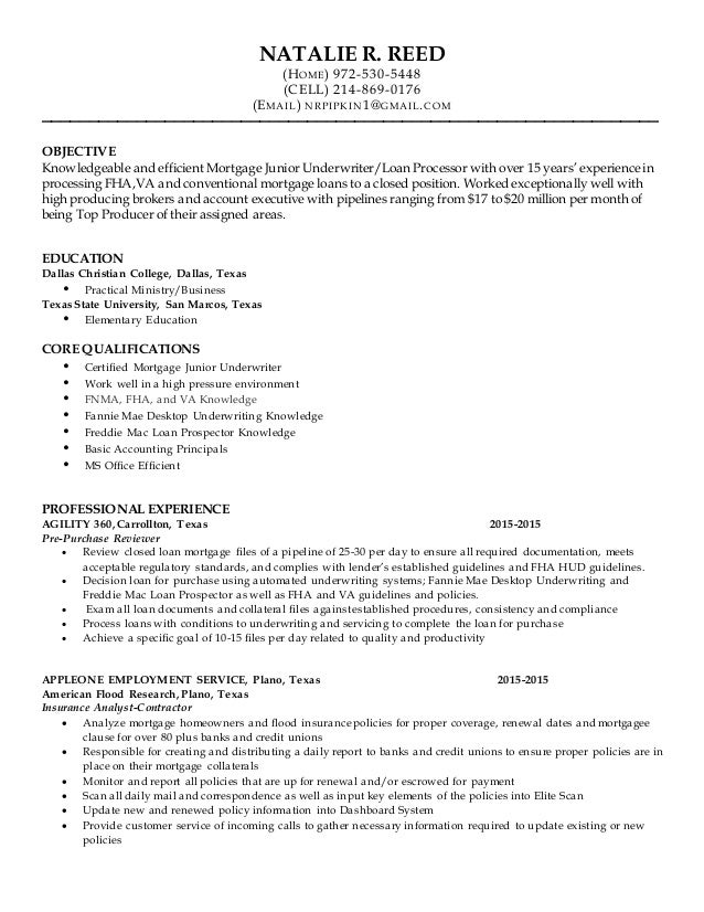 Natalie Pipkin Mortgage Resume 2