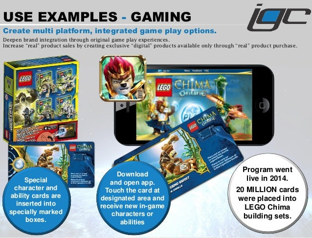 USE EXAMPLES - GAMING Create multi platform, integrated game play options. Deepen brand integration through original game ...