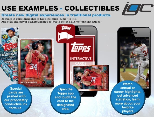 USE EXAMPLES - COLLECTIBLES Create new digital experiences in traditional products. Recreate in-game highlights to have th...