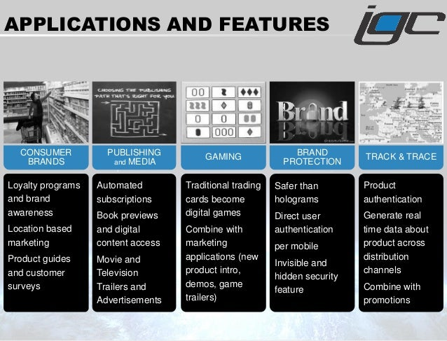 TRACK & TRACE Product authentication Generate real time data about product across distribution channels Combine with promo...