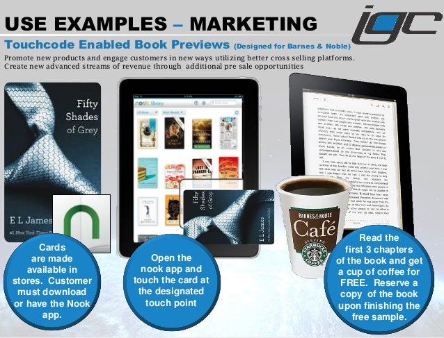 Touchcode Enabled Book Previews (Designed for Barnes & Noble) Promote new products and engage customers in new ways utiliz...