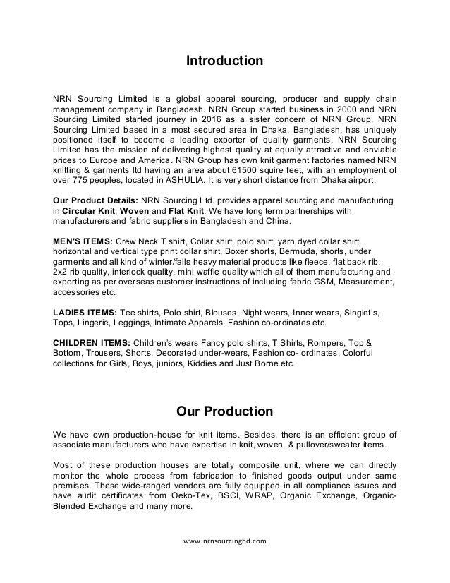 NRN Sourcing Ltd Company Profile