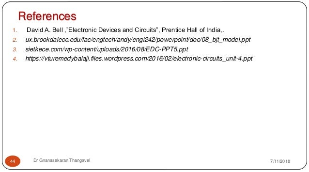 EC8353 ELECTRONIC DEVICES AND CIRCUITS Unit 3