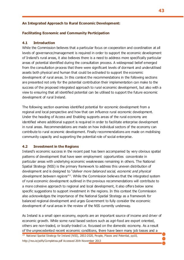 An Integrated Approach to Rural Economic Development: Facilitating Economic and Community Participation 4.1 Introduction W...