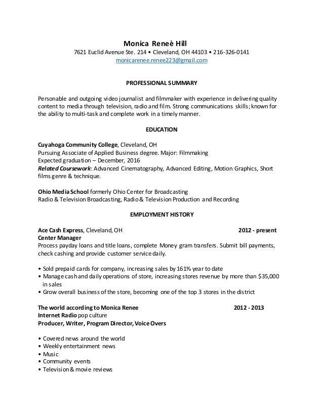 check cashing resume