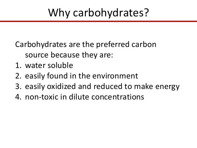 lab 1 carbohydrates Carbohydrates are an important part of a healthy diet carbohydrates provide the body with the fuel it needs for physical activity and for proper organ function.