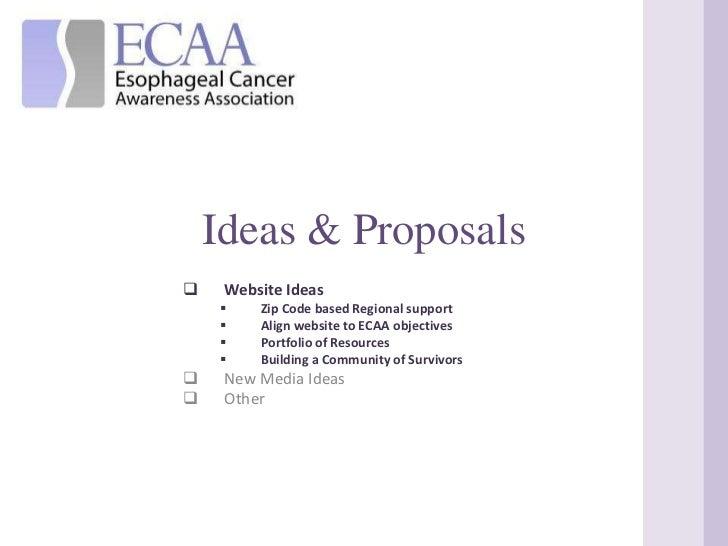 Ideas & Proposals<br /><ul><li>Website Ideas