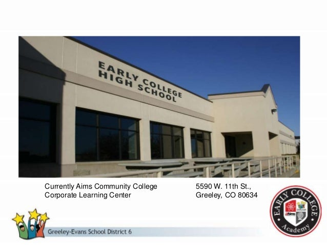 Challenge 2: ECHS Learning Center – Fully supported by Aims Community College – Individual and Group Instruction – Support...