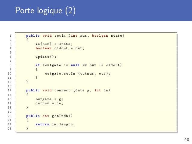 Polymorphisme interface et classe abstraite for Portes logiques cours