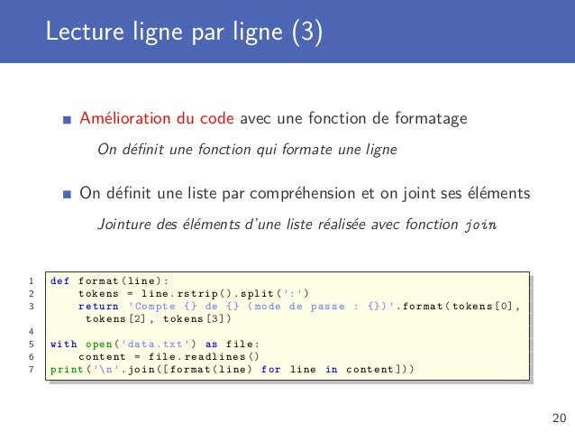 Python Avance Lecture Et Ecriture De Fichiers
