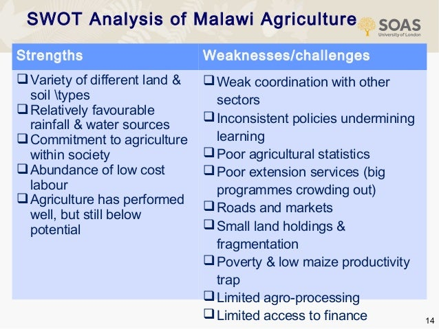 swot analysis of agriculture in pakistan Keywords: swot analysis, farmers, agriculture, pakistan i introduction living of all human being is heavily dependent on agricultural products and its importance is going to increase day by day [1] pakistan is an agricultural country, so it is very much developed in this sector it is the only mean of earning for 47% of the labor force of pakistan.
