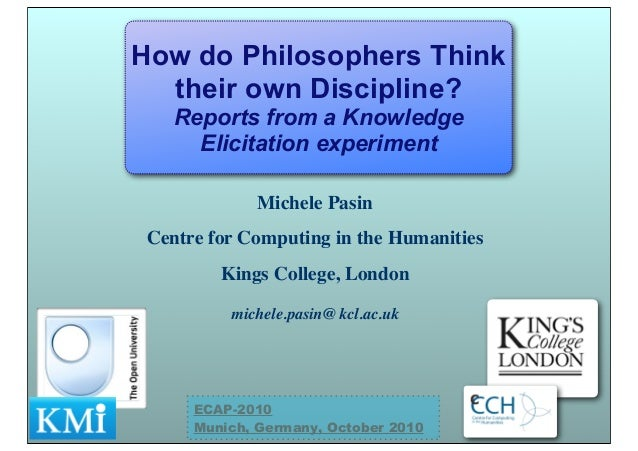 Michele Pasin Centre for Computing in the Humanities Kings College, London michele.pasin@ kcl.ac.uk How do Philosophers Th...