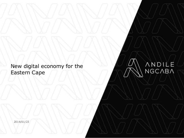 New digital economy for the Eastern Cape  2014/01/23
