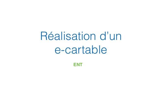 Réalisation d'un e-cartable ENT