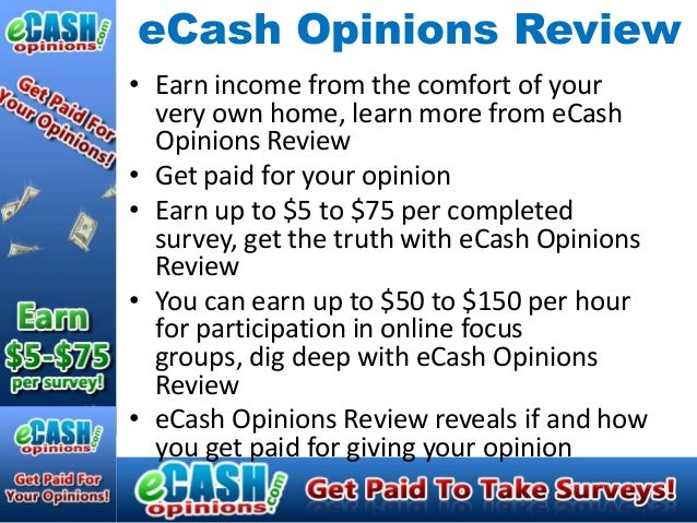 eCash Opinions Review• Earn income from the comfort of your  very own home, learn more from eCash  Opinions Review• Get pa...