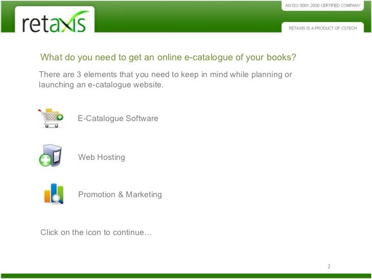 Ecatalogue book-store