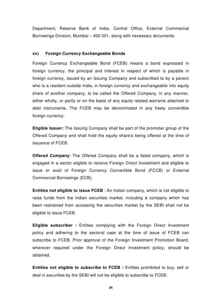 Master Circular On External Commercial Borrowings And Trade Credits