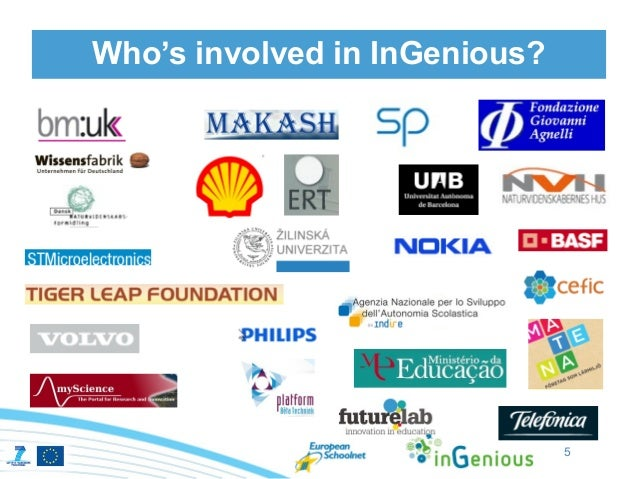 Who's involved in InGenious?                               5