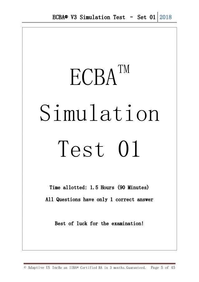 FREE ECBA v3 simulation Questions- set 1