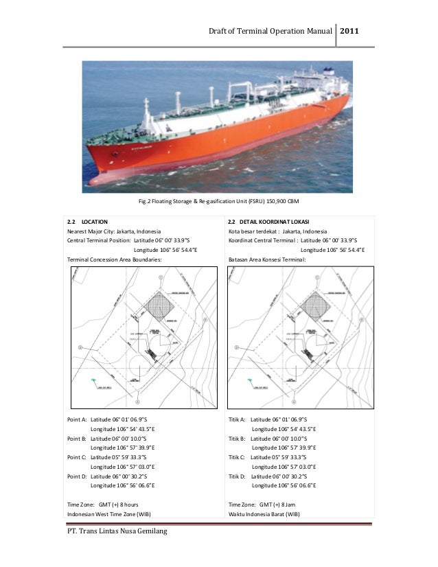 DraftofTerminalOperationManual 2011  PT.TransLintasNusaGemilang              Fig.2FloatingStorag...