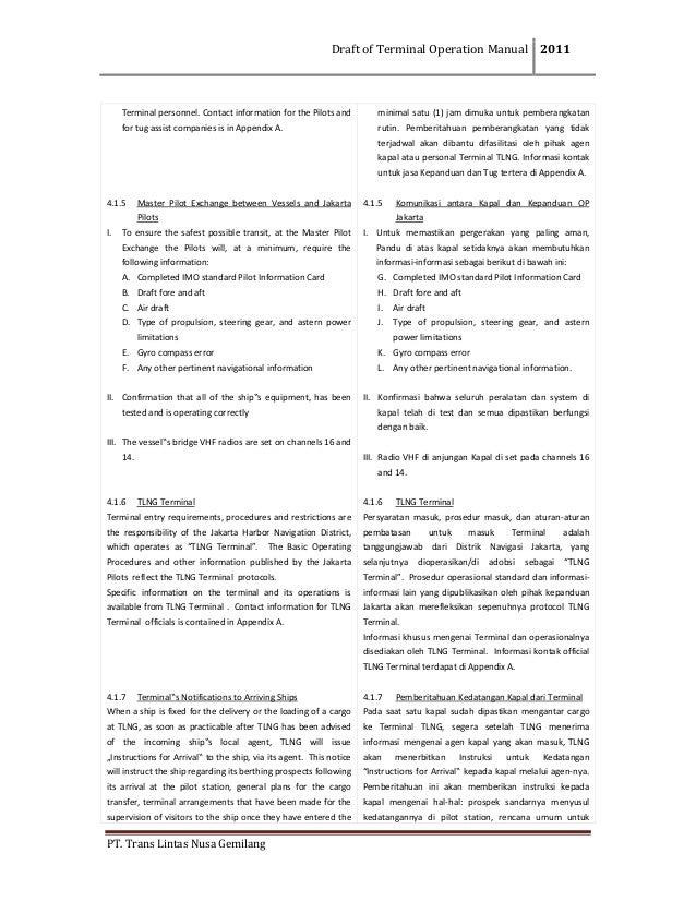 DraftofTerminalOperationManual 2011  PT.TransLintasNusaGemilang  Terminalpersonnel.Contactinformationfort...