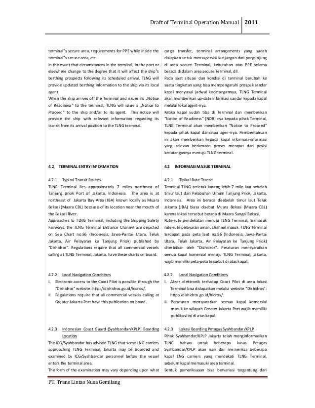 "DraftofTerminalOperationManual 2011  PT.TransLintasNusaGemilang  terminal""ssecurearea,requirementsforPPE..."