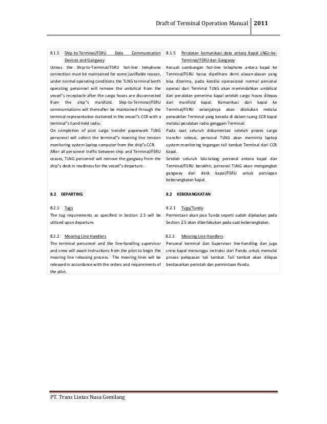 Draft OM TransLNG
