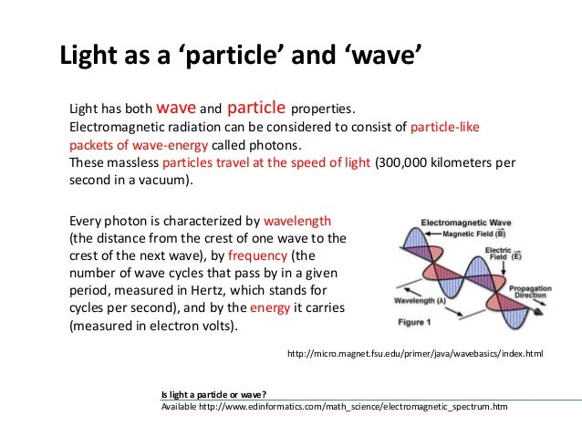 By Which Properties Can Be Characterized Electromagnetic Radiation