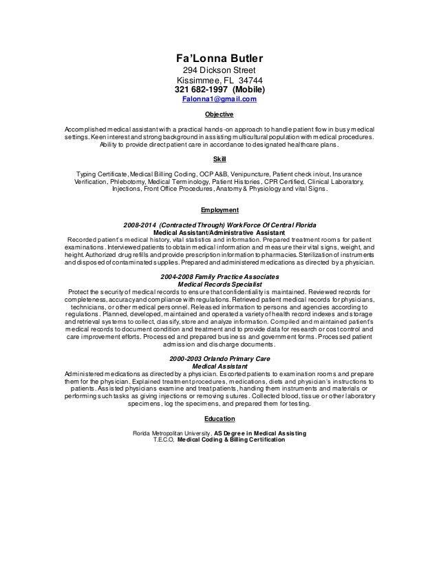 Falonna Butler Med Resume 2015