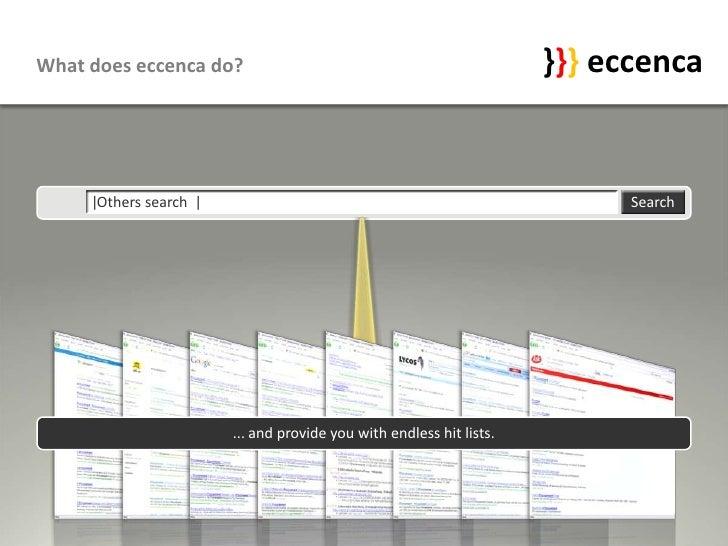 What does eccenca do?                                                 }}} eccenca        |Others search |                 ...