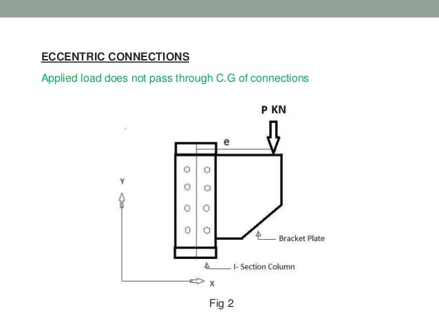 Eccentric connections in steel structure