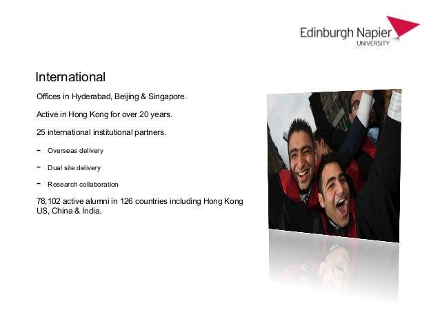 Our experience of hong kong edinburgh napier university - University of edinburgh international office ...
