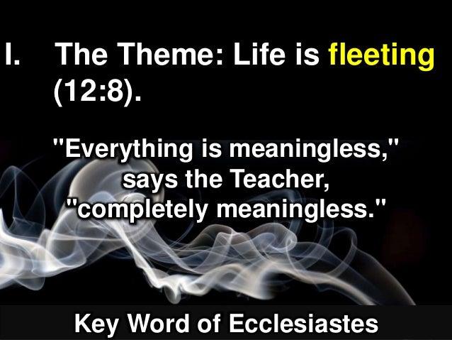 Finishing Well (Ecclesiastes 12:8-14)