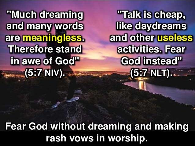 How to Honor God (Ecclesiastes 5:1-7)