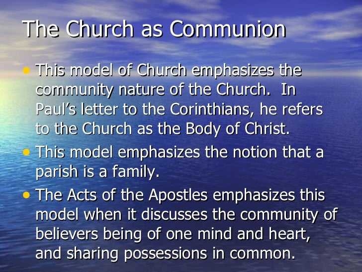 5 Different Theological Models of the Church