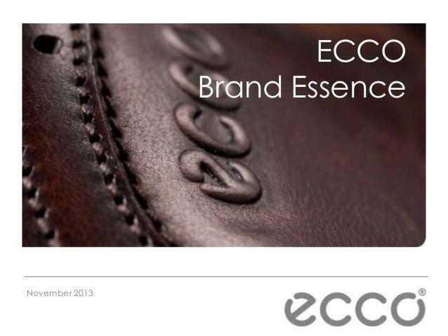 ECCO Brand Essence  November 2013
