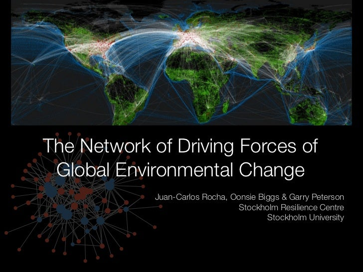 The Network of Driving Forces of Global Environmental Change             Juan-Carlos Rocha, Oonsie Biggs & Garry Peterson ...