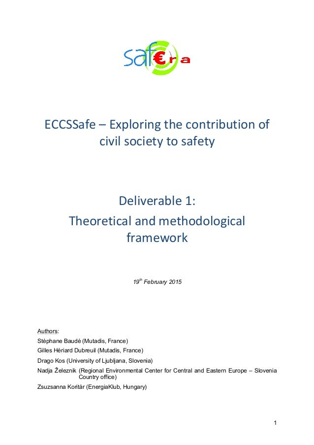 1          ECCSSafe  –  Exploring  the  contribution  of   civil  society  to  safety        ...