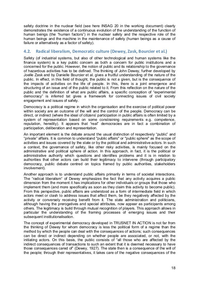 18 safety doctrine in the nuclear field (see here INSAG 20 in the working document) clearly demonstrates the existence of ...