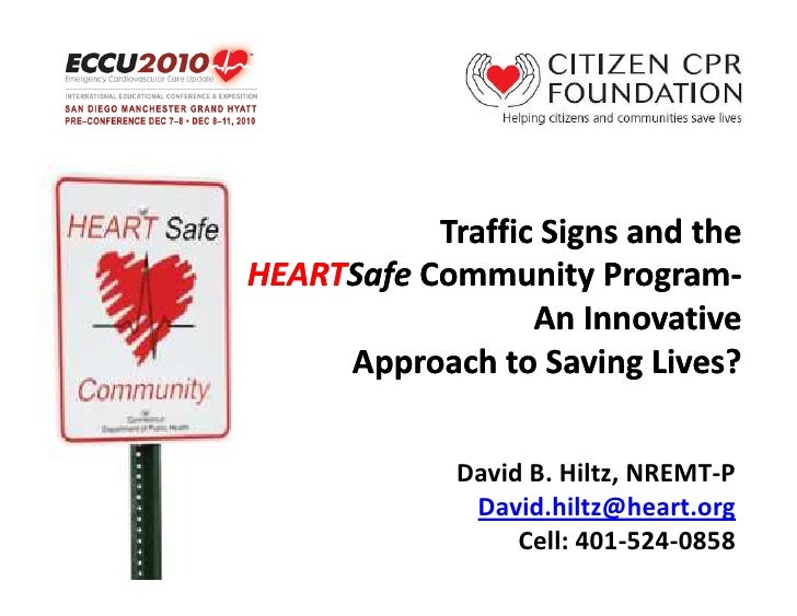 Traffic Signs and theHEARTSafe Community Program-HEARTSafe              Program-                  An Innovative     Approa...