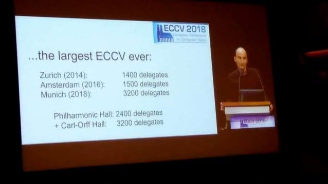 ECCV2018参加速報(一日目) Slide 3