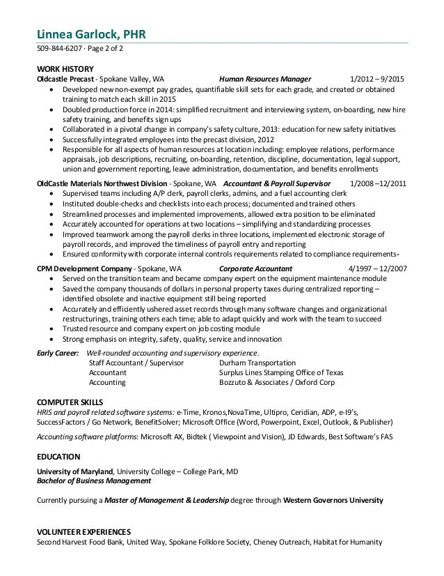Attractive Spokane Accounting Resume Gift - Administrative Officer ...