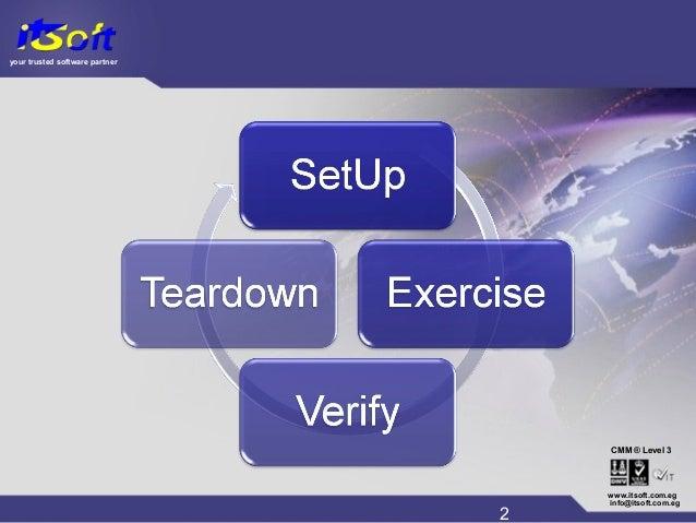 your trusted software partner CMM www.itsoft.com.eg 2 info@itsoft.com.eg Level 3®