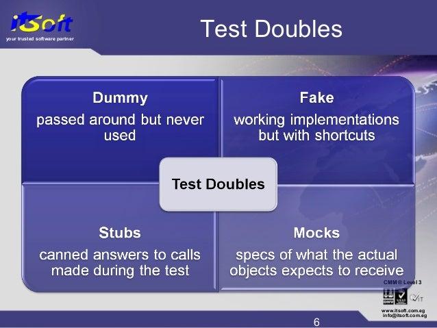 your trusted software partner CMM www.itsoft.com.eg 6 info@itsoft.com.eg Level 3® Test Doubles