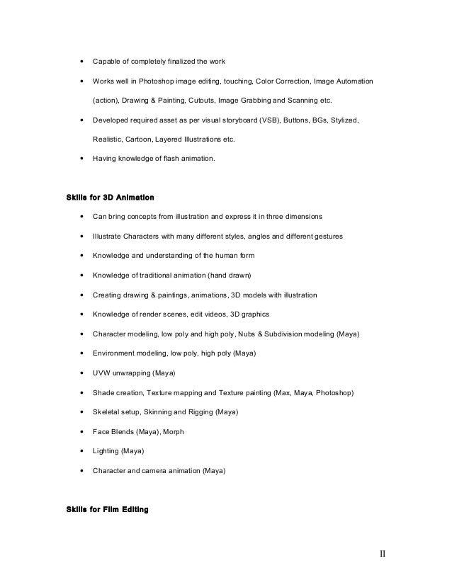 flash designer resume