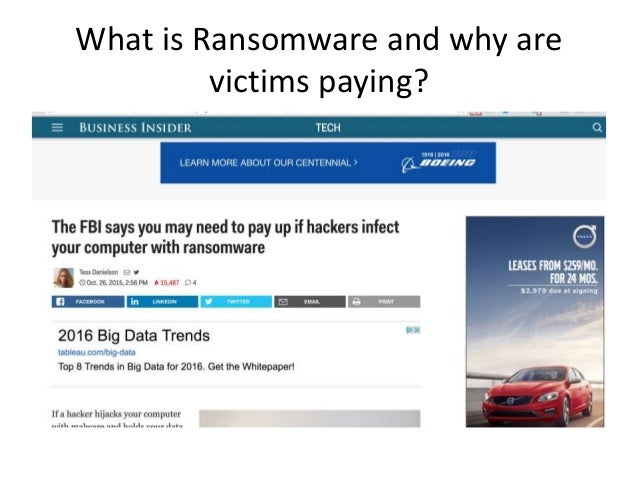 What is Ransomware and why are victims paying?