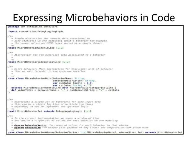 Expressing Microbehaviors in Code