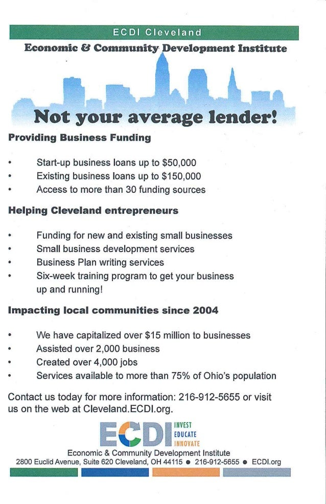 Big Ideas for Small Business: ECDI Flyer