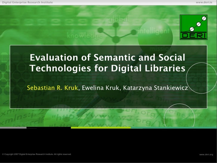 Digital Enterprise Research Institute                                                    www.deri.ie                      ...